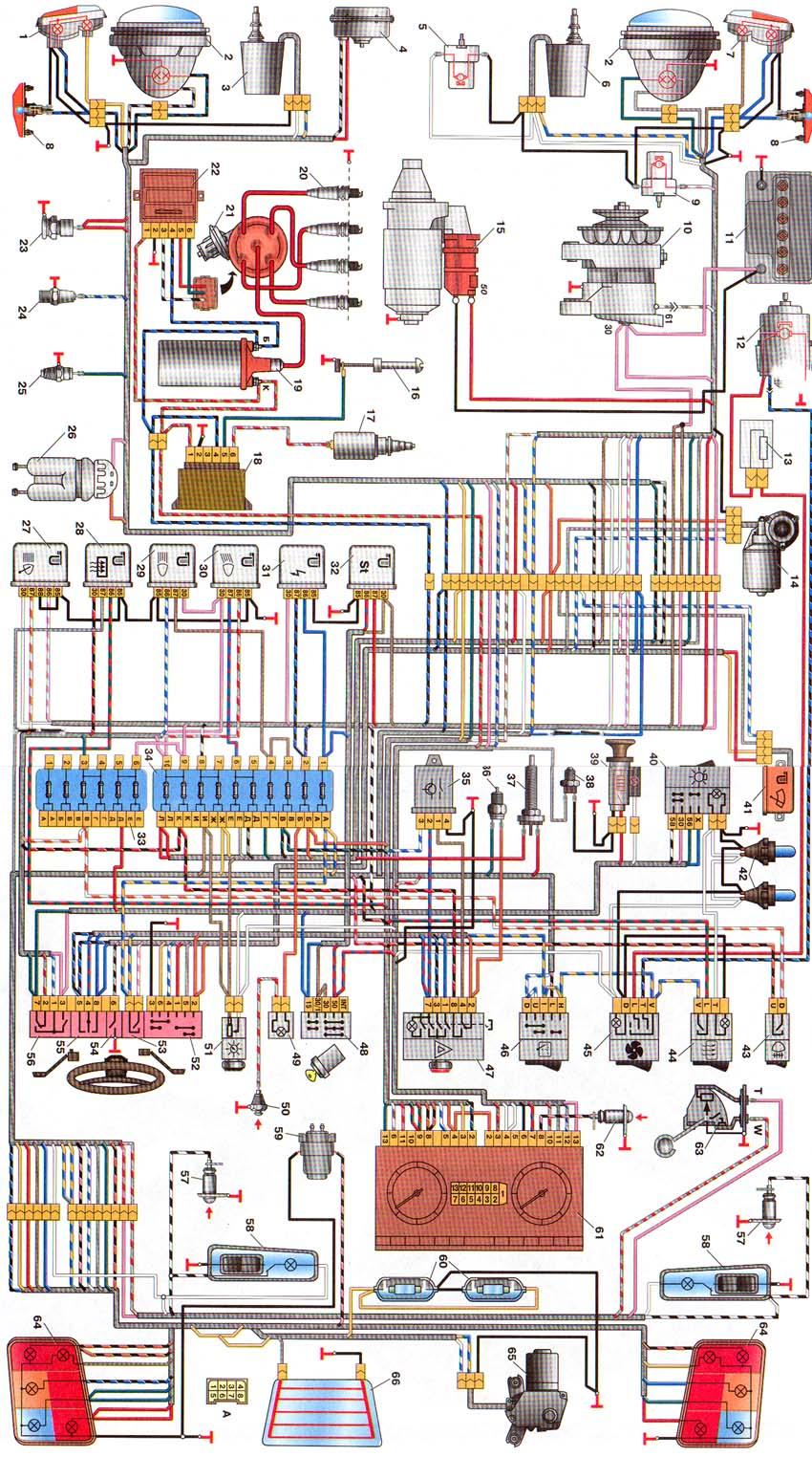 Схема электропроводка на ниву